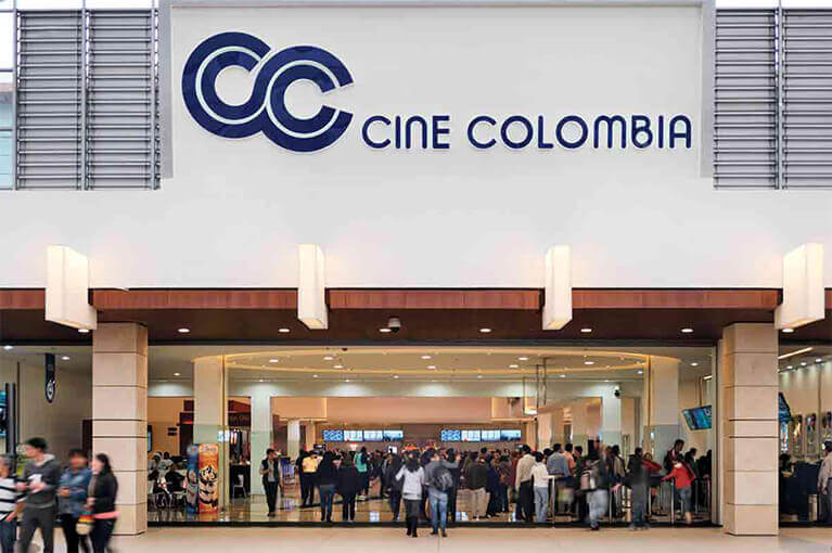 Cine Colombia at Titán Plaza Shopping Center commercial project in Bogota
