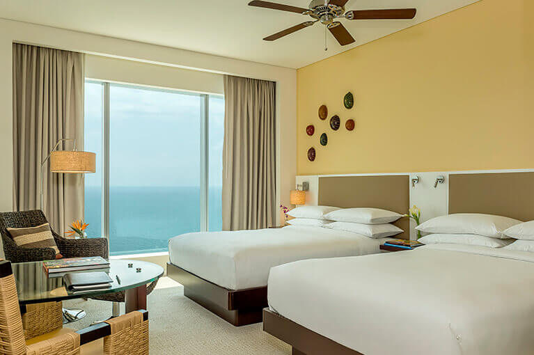 Double bedroom with sea view at Hyatt Regency Cartagena residential project