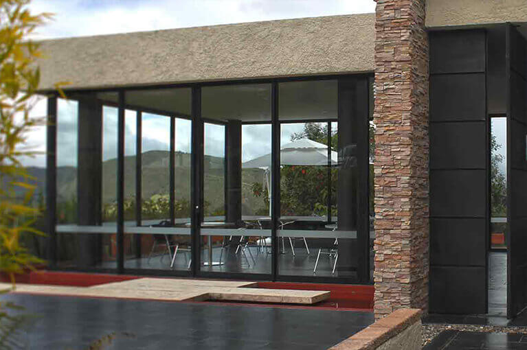 Entrance house model entrance land sale project for La Molina in Sopo
