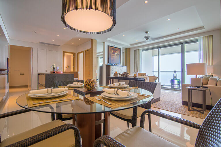 Family dining room at Hyatt Regency Cartagena residential project