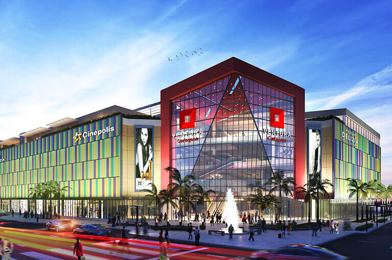 General plan of the Ventura Cartagena Shopping Center commercial project in the Caribbean