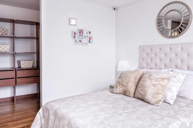 Main bedroom in 77m² apartment at Urban Salitre residential project in Bogota