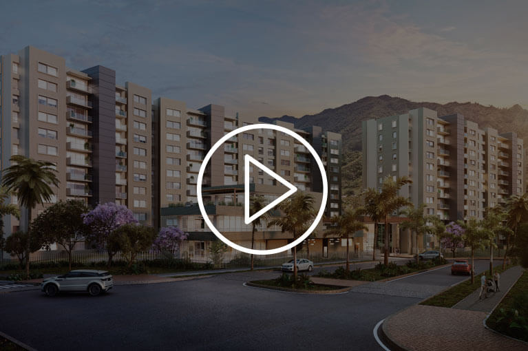 Promotional video of apartments at Ocobo Hacienda Santa Inés project in Ibague