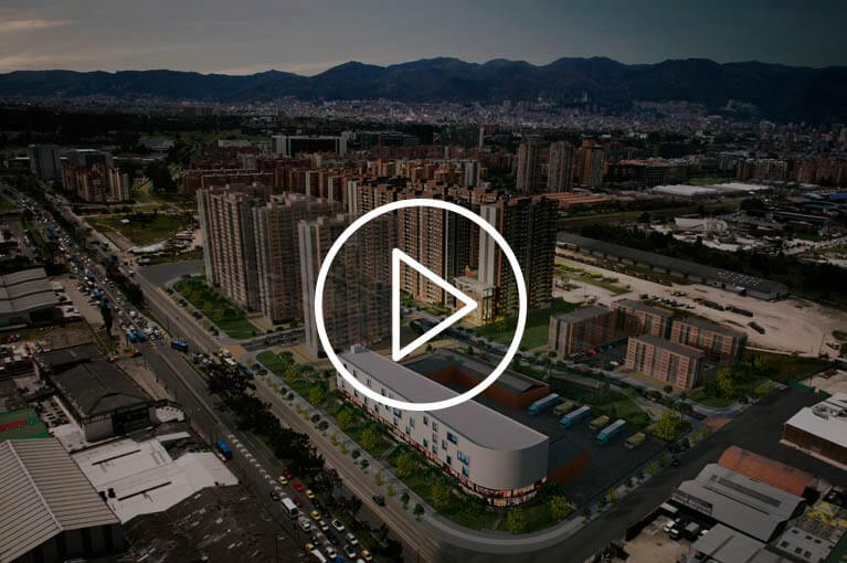 Promotional video of apartments for the Urban Salitre residential project in Bogota