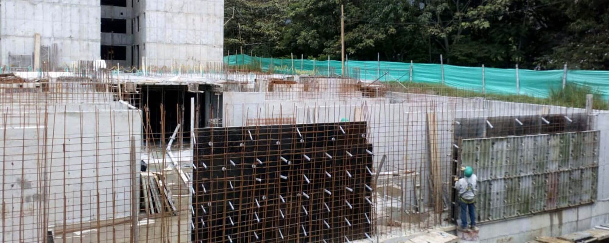 Walls apartment tower Ocobo residential project in Ibague December 2018