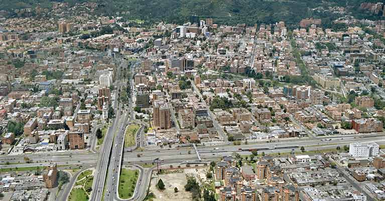 Aerial photography of urbanization and construction projects in Ospinas