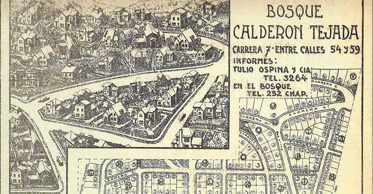 "Plan of the first project ""Bosque Calderon Tejada"" in Bogota developed by Ospinas"