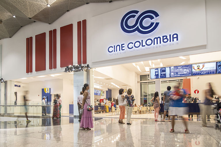 Cine Colombia at Plaza Bocagrande Shopping Center commercial project in Cartagena