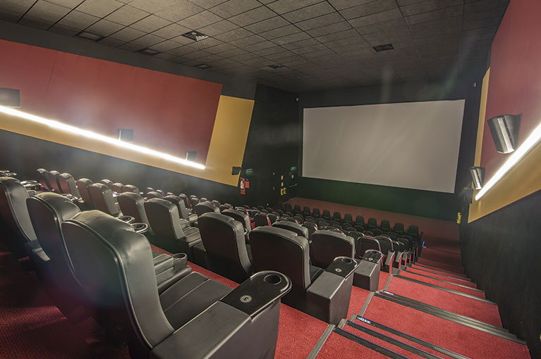 Cine Colombia Hall at Plaza Bocagrande Shopping Center commercial project in Cartagena
