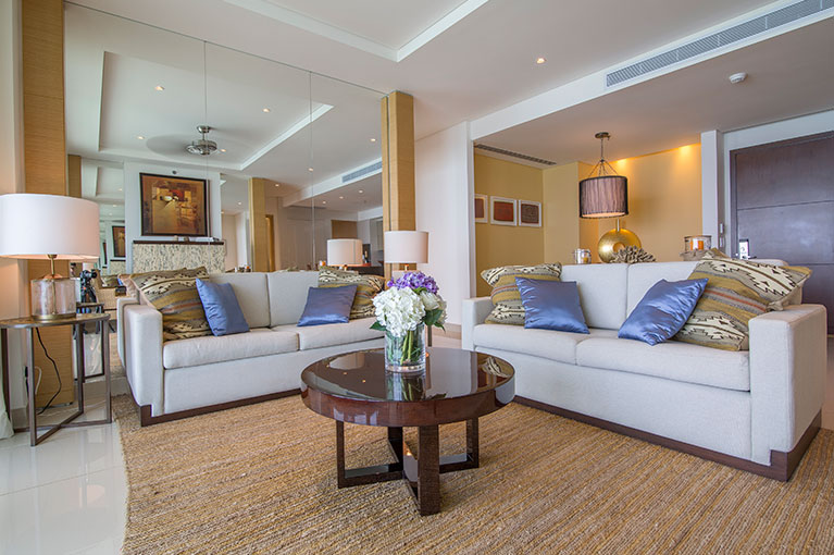Coffee table apartment at Hyatt Regency Cartagena residential project