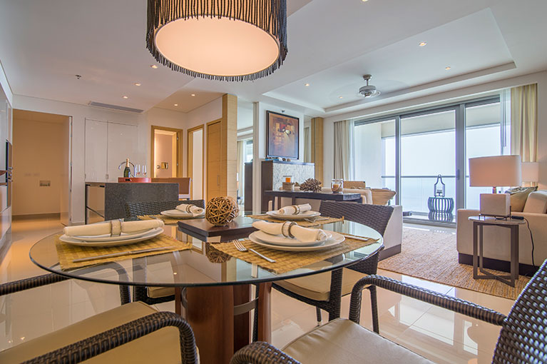 Dining room apartment at Hyatt Regency Cartagena residential project
