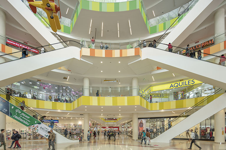 First floor at Ventura Terreros Shopping Center commercial project in Soacha