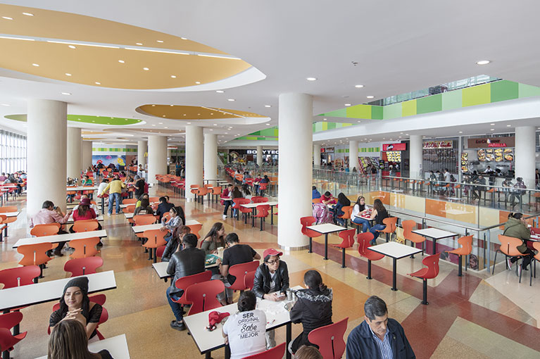 Food Court at Ventura Terreros Shopping Center commercial project in Soacha