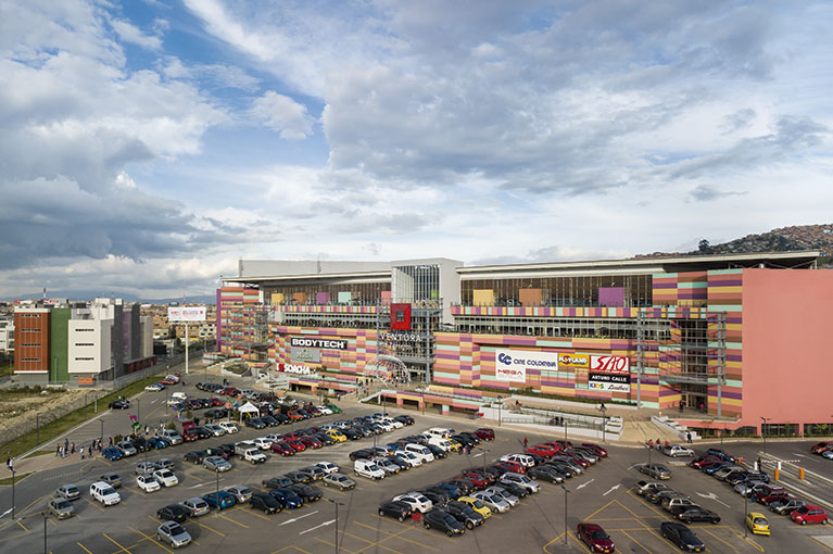 General plan at Ventura Terreros Shopping Center commercial project in Soacha