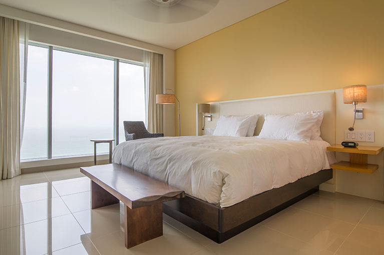 Main bedroom apartment at Hyatt Regency Cartagena residential project