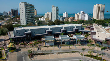 Aerial photo at Zazué Plaza Shopping Center commercial project in Santa Marta