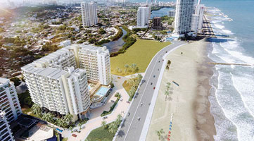 Aerial photography of the Vivanti Mar residential project in Cartagena