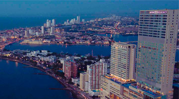 Aerial view Hyatt Regency residential project in Cartagena