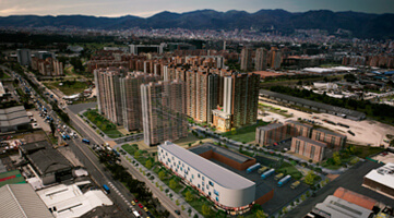 Apartment towers Aero photography of Urban Salitre project in Bogota