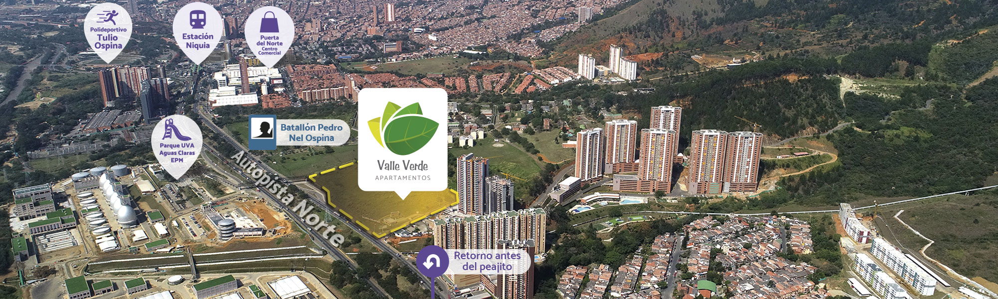 Valle Verde is a residential project located in Bello, Antioquia